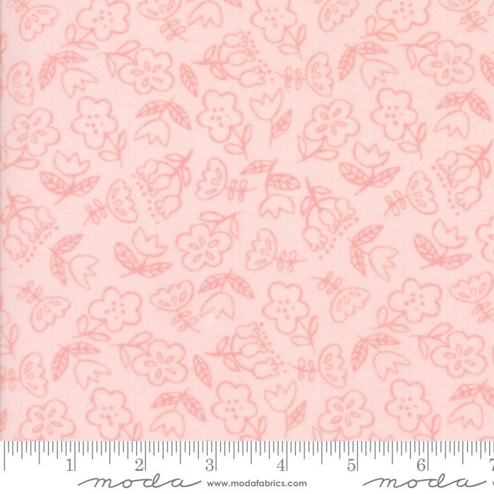 Light Pink Floral Flannel Fabric from Soft & Sweet Flannel Collection at Cherry Creek Fabric