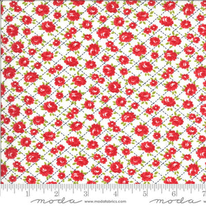 White Roses Fabric | Shine On
