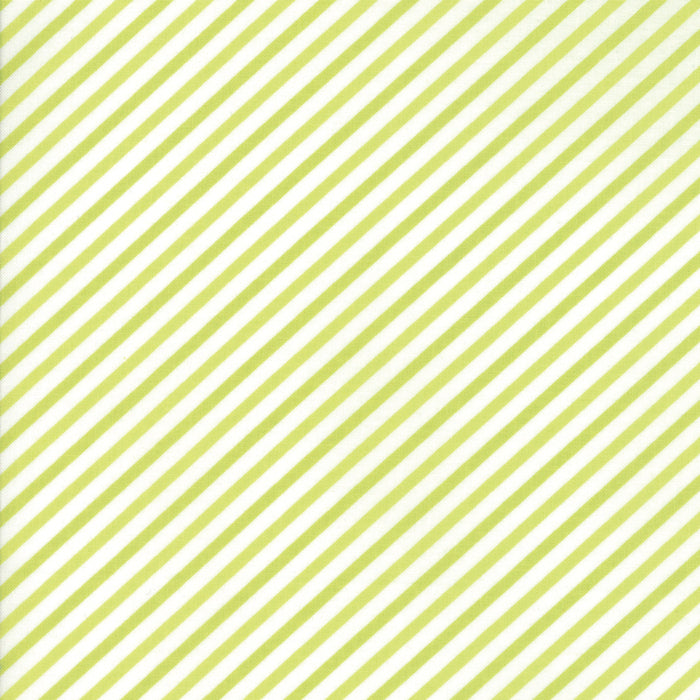 Green Candy Stripe Flannel Fabric