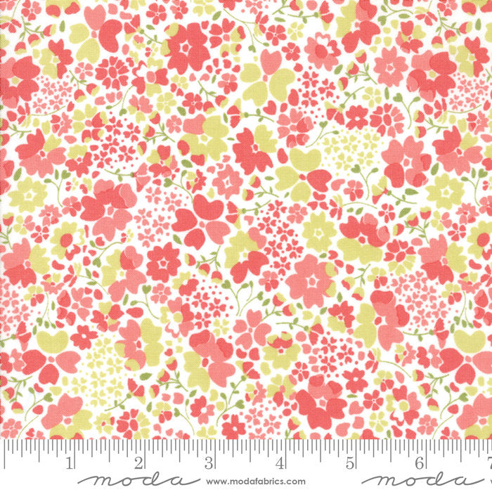 Strawberry Jam Fabric - Pink Floral Meadow Fabric - Corey Yoder - Moda Fabric - Floral Fabric - Pink Fabric - Fabric by the Yard from Cherry Creek Fabric & Crafts Collection at Cherry Creek Fabric