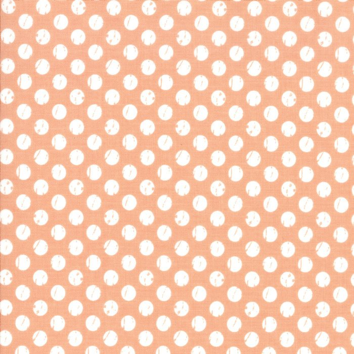Orange Dots Fabric