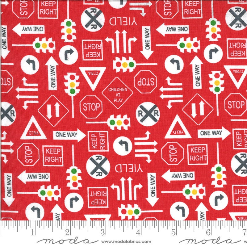 Red It's a Sign Fabric | On the Go