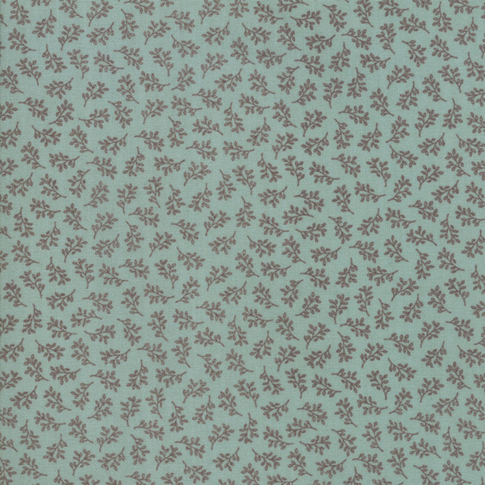 Aqua Tiny Vines Fabric from 101 Maple Hill Collection at Cherry Creek Fabric