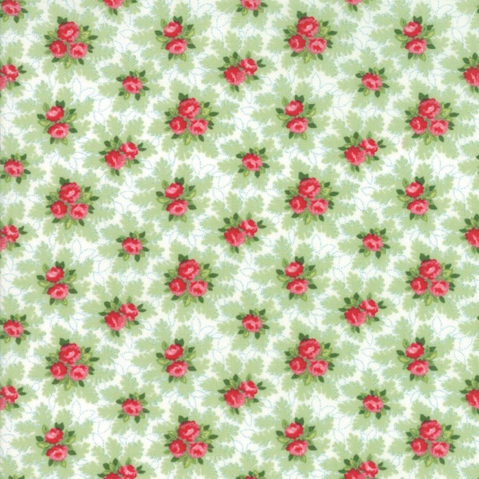 Linen White Christmas Bouquets Fabric from Good Tidings Collection at Cherry Creek Fabric