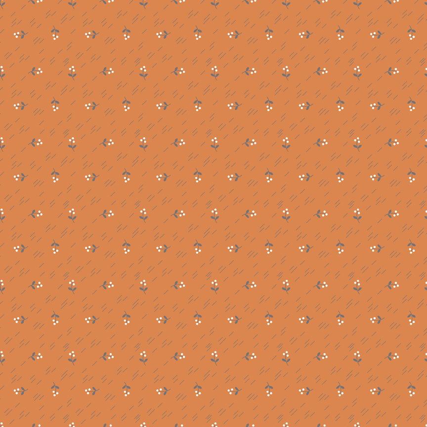 Orange Berries Fabric