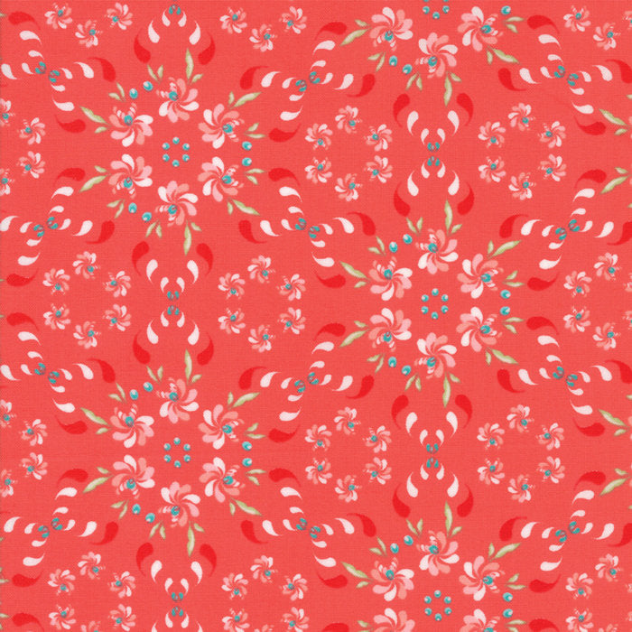 Coledale by Quilt Jane | Red Floral Wreath Fabric