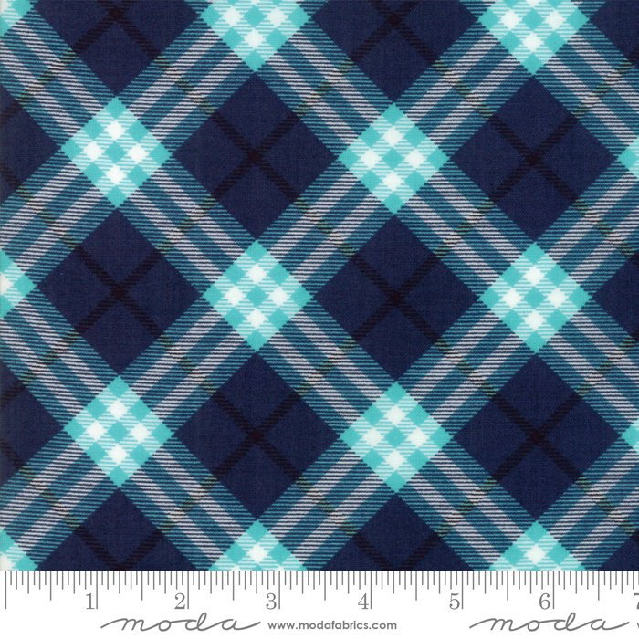 Dark Blue Plaid Fabric from All Weather Friend Collection at Cherry Creek Fabric