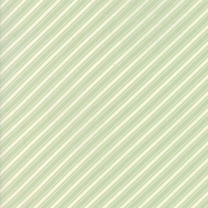 Aqua Ticking Stripe Fabric