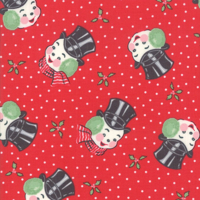 Sweet Christmas by Urban Chiks | Red Snowman Fabric