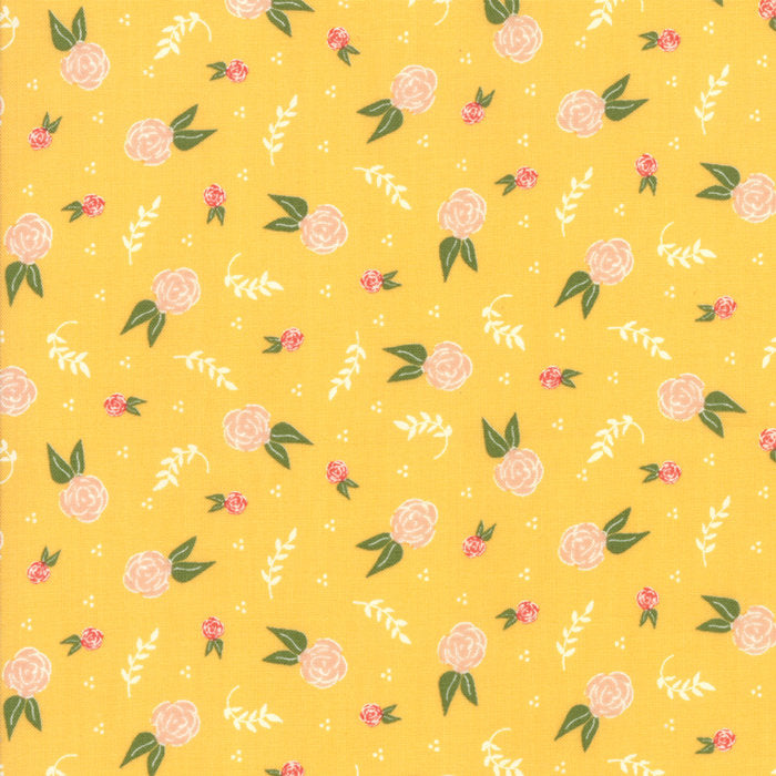 Yellow Floral Dream Fabric