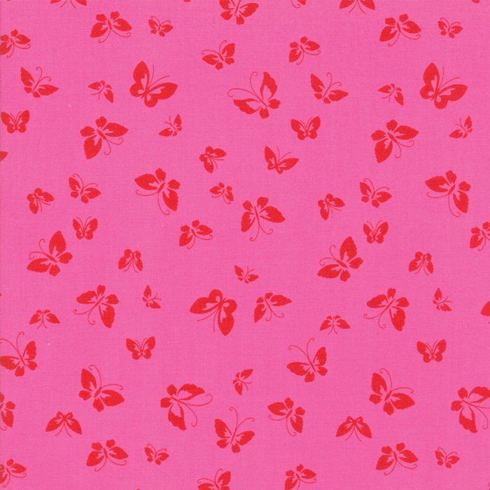 Pink Butterflies Fabric