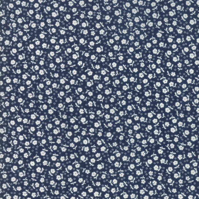 Navy Floral Dots Fabric from Guest Room Collection at Cherry Creek Fabric