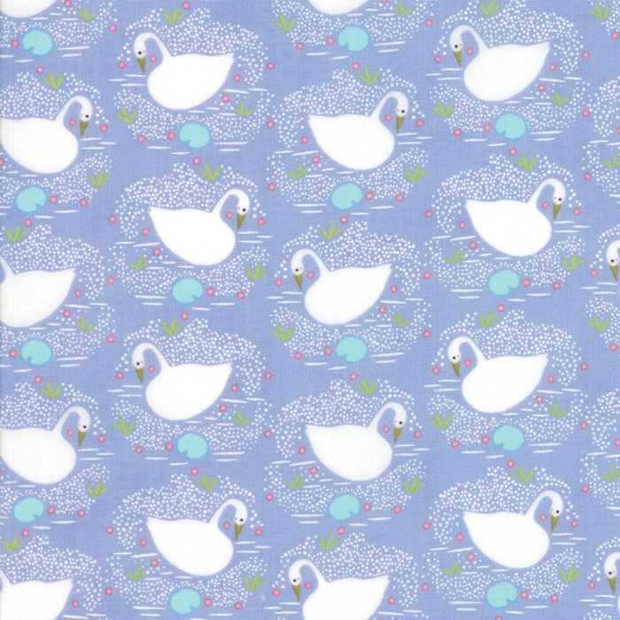 Purple Swans Fabric from Enchanted Collection at Cherry Creek Fabric