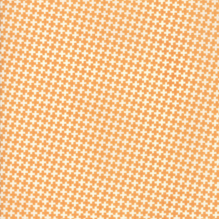 "END OF BOLT 1 yd + 14"" - Orange Mini Crisscross Fabric from Farmhouse II Collection at Cherry Creek Fabric"