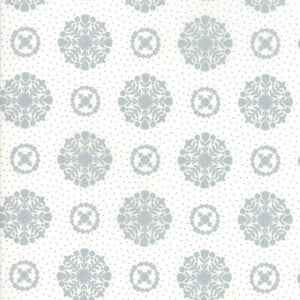 Metallic Silver Snowflakes Fabric
