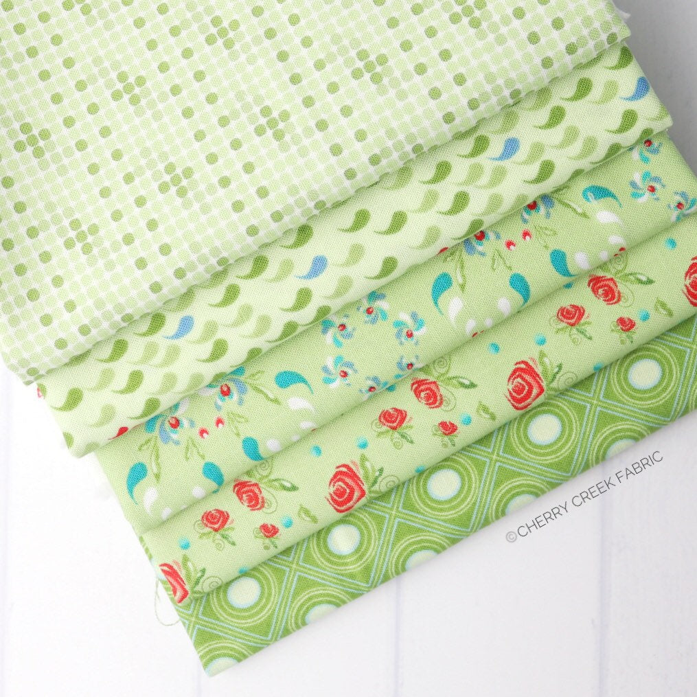 Coledale Green Fat Quarter Bundle - 5 pieces