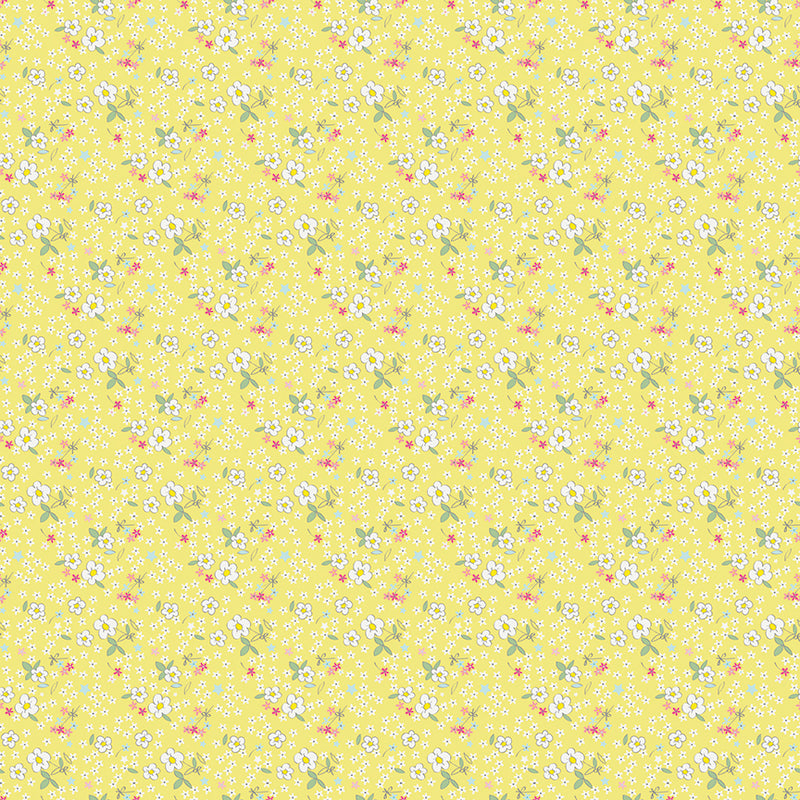 Yellow Fleuri Fabric