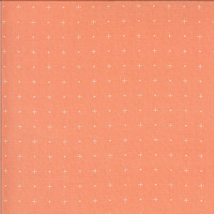 Coral Dotty Plus Fabric | Apricot & Ash