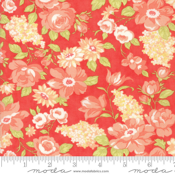 Red Blooms Fabric from Farmhouse II Collection at Cherry Creek Fabric