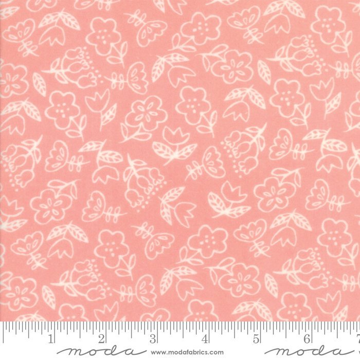 Pink Floral Flannel Fabric from Soft & Sweet Flannel Collection at Cherry Creek Fabric