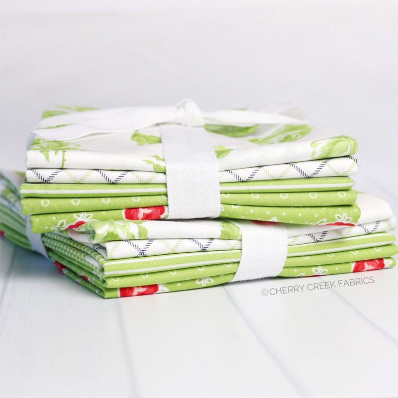 Smitten Green Half Yard Bundle from Smitten Collection at Cherry Creek Fabric