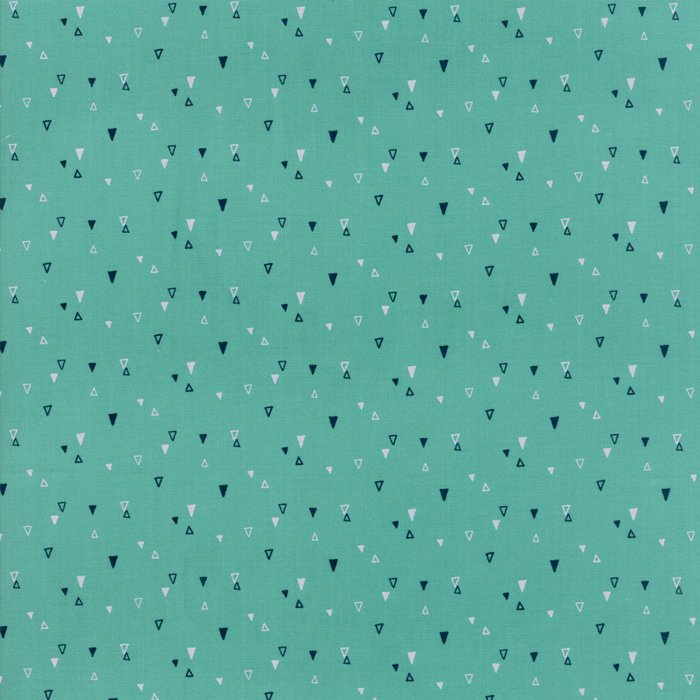 Turquoise Triangle Fabric from Yucatan Collection at Cherry Creek Fabric