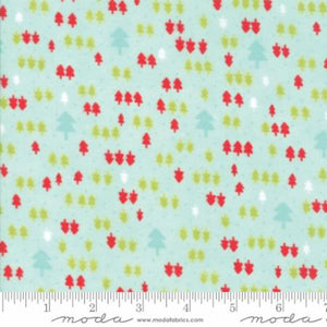 Aqua Christmas Trees Flannel Fabric from Vintage Holiday Flannel Collection at Cherry Creek Fabric
