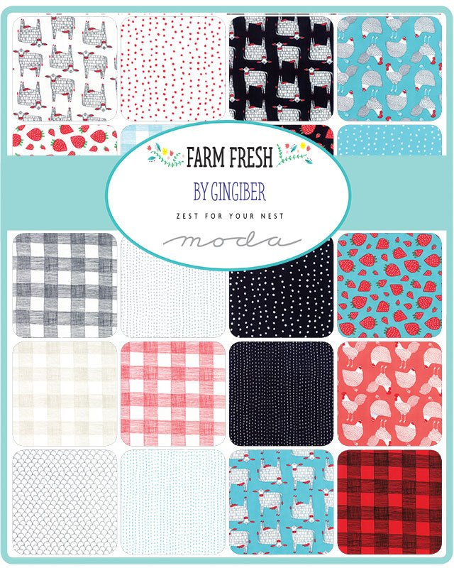 Farm Fresh Fabric Black & White Panel from Farm Fresh Collection at Cherry Creek Fabric