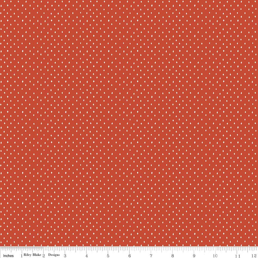 Red Diamonds Fabric from Varsity Collection at Cherry Creek Fabric