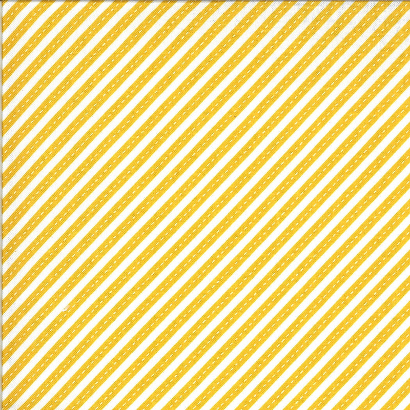 Yellow Bias Stripes Fabric | On the Go