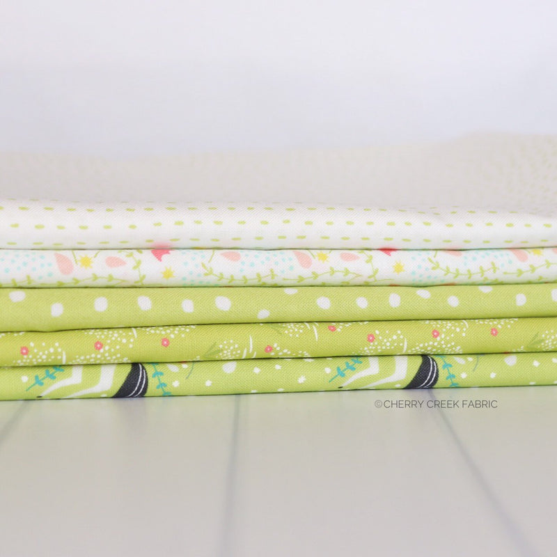 Enchanted Green One Yard Bundle from Enchanted Collection at Cherry Creek Fabric