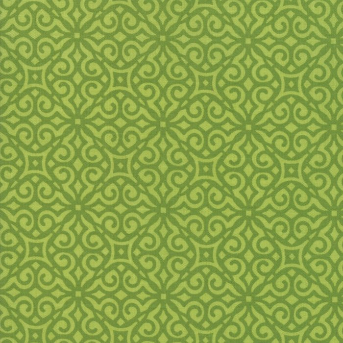 Green Geometric Fabric