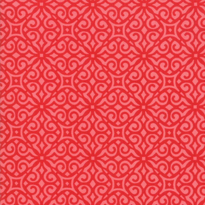 Red Geometric Fabric
