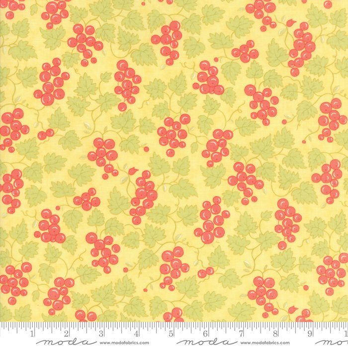 "Yellow Berries FabricEND OF BOLT 1 yd + 14"" from Hazel & Plum Collection at Cherry Creek Fabric"