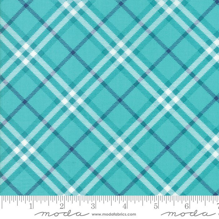 Turquoise Plaid Fabric from All Weather Friend Collection at Cherry Creek Fabric