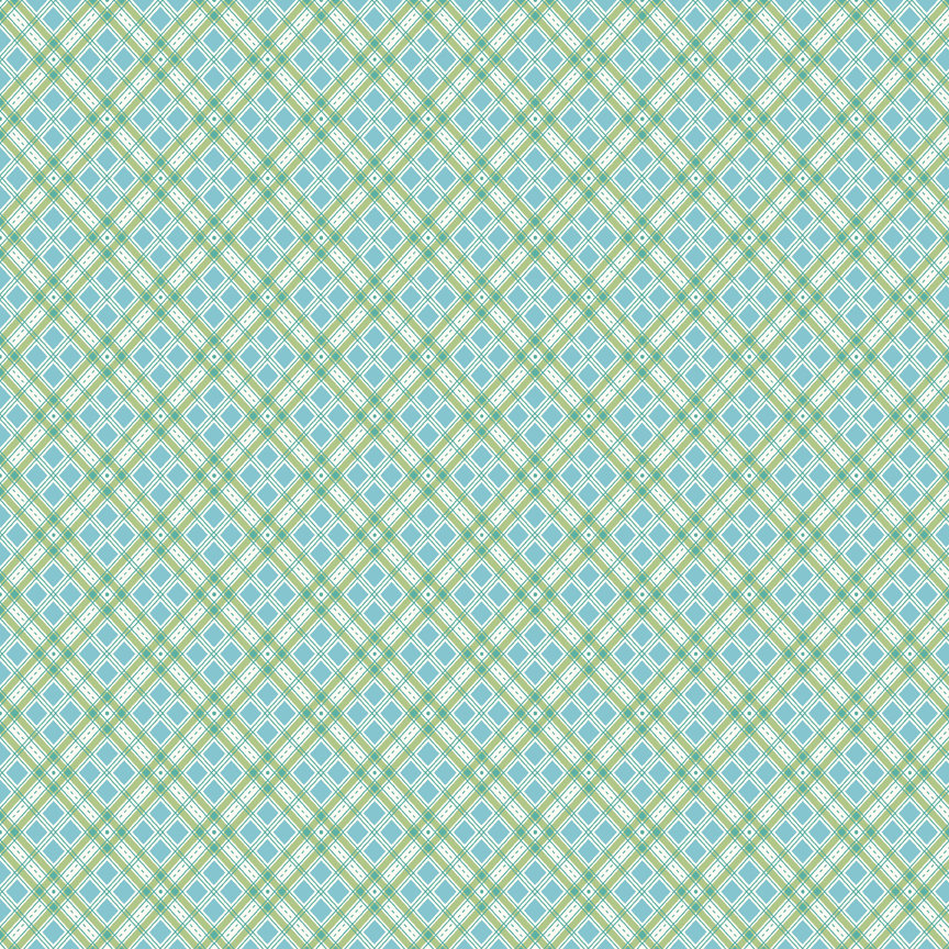 Blue Plaid Fabric from Autumn Love Collection at Cherry Creek Fabric