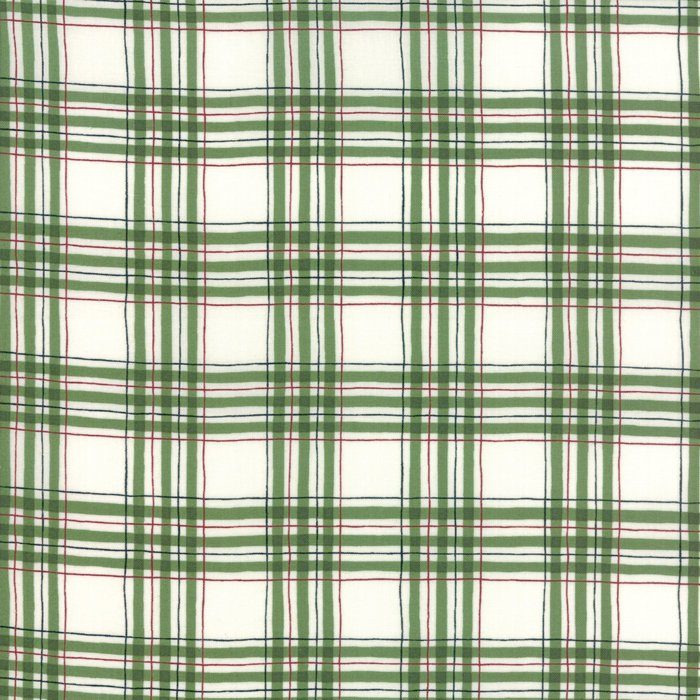 Green Winter Plaid Fabric