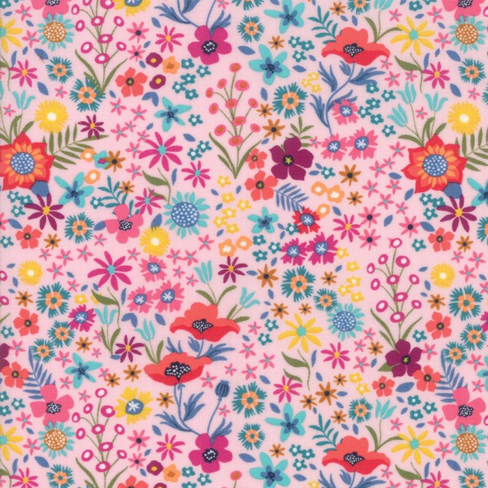 Pink Flower Patch Fabric