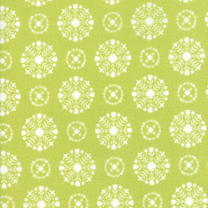 Green Snowflakes Fabric</br>END OF BOLT </br>5 yds + 8""