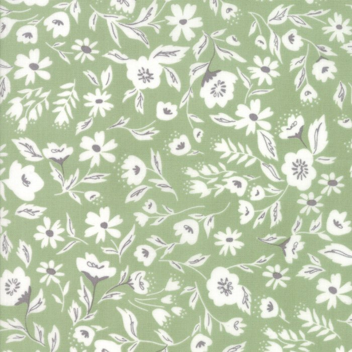Green Garden Bed Fabric from Garden Variety Collection at Cherry Creek Fabric