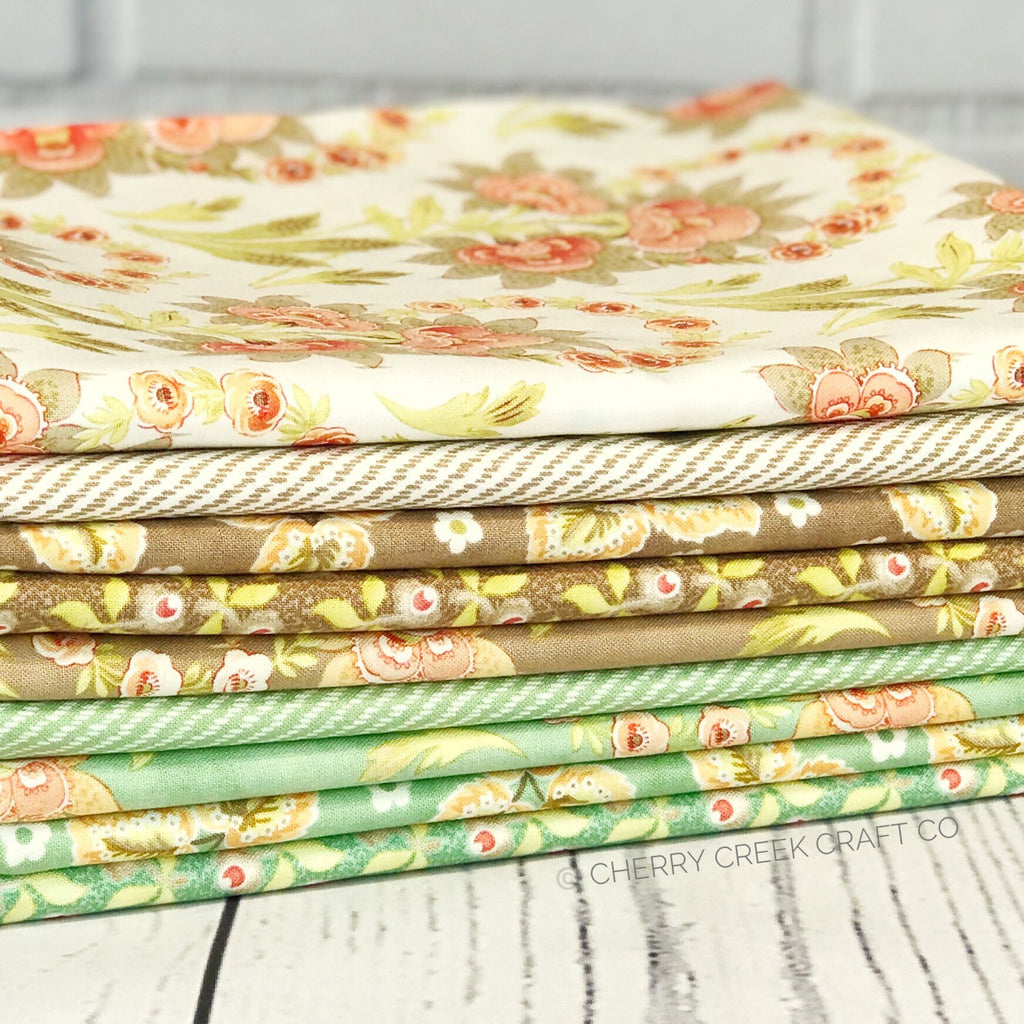 Hazel & Plum Seafoam One Yard Bundle from Hazel & Plum Collection at Cherry Creek Fabric