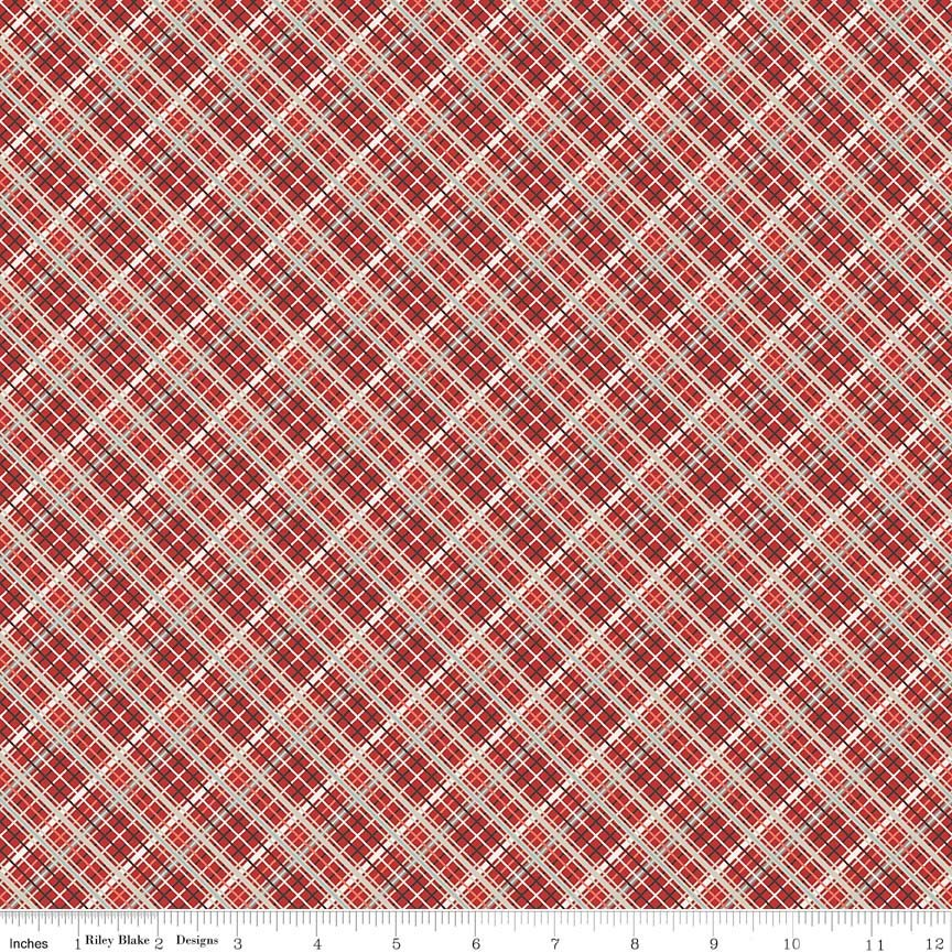 Red Plaid Fabric from Offshore 2 Collection at Cherry Creek Fabric