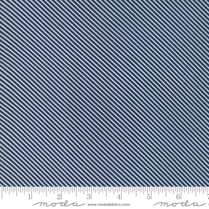 Navy Candy Stripes Fabric from Garden Variety Collection at Cherry Creek Fabric