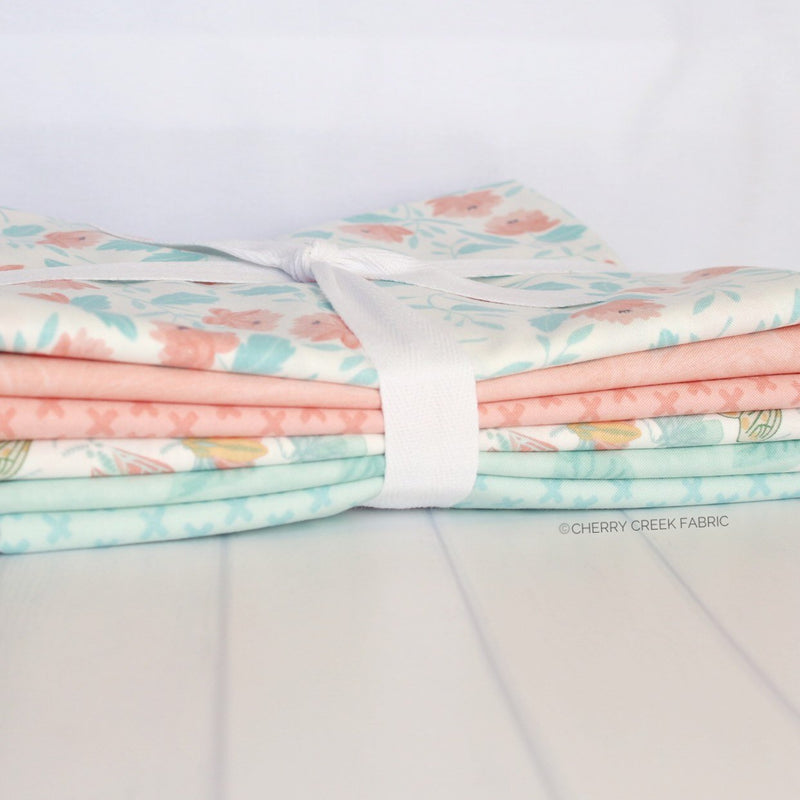 Twilight Coral & Mist One Yard Bundle from Twilight Collection at Cherry Creek Fabric