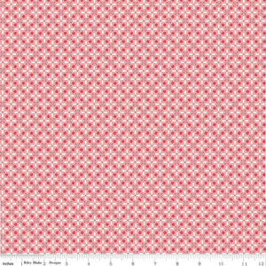 Coral Vintage Geometric Fabric from Farm Girl Vintage Collection at Cherry Creek Fabric