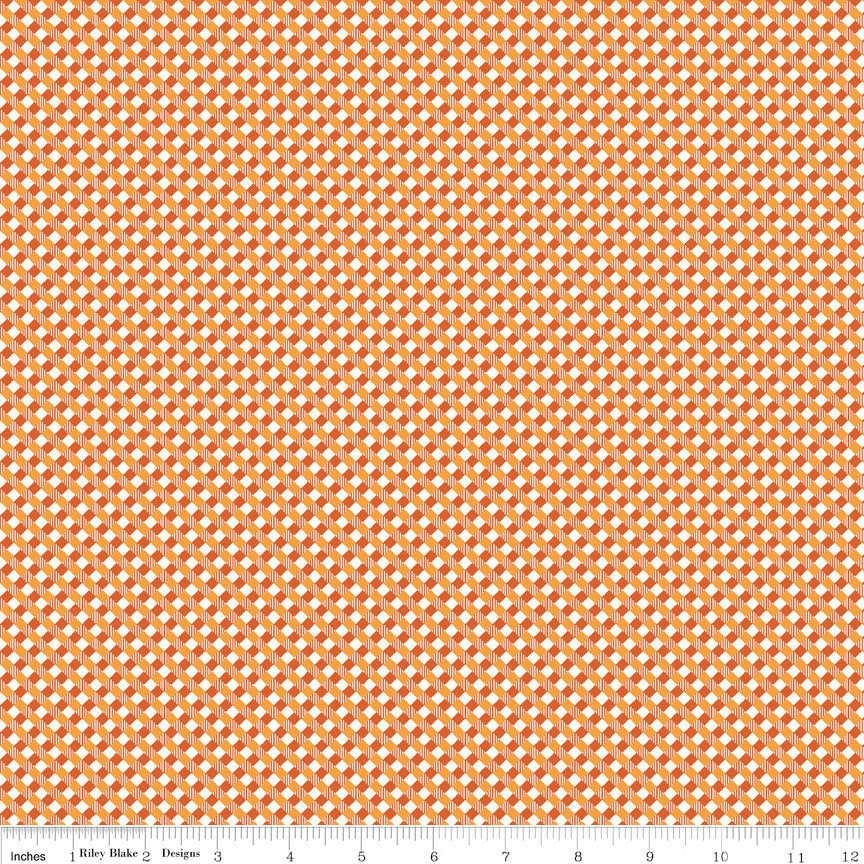 Orange Gingham Fabric from Autumn Love Collection at Cherry Creek Fabric