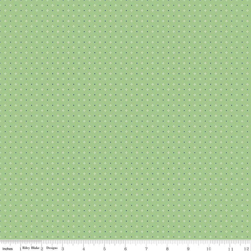 Green Calico Fabric from Farm Girl Vintage Collection at Cherry Creek Fabric