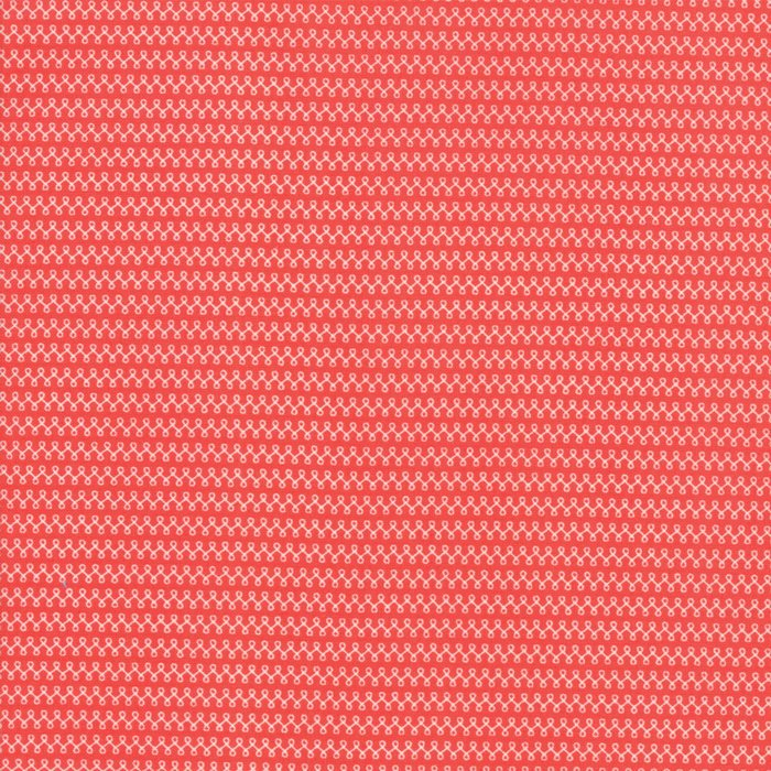 Red Loops Fabric - 1/2 yard