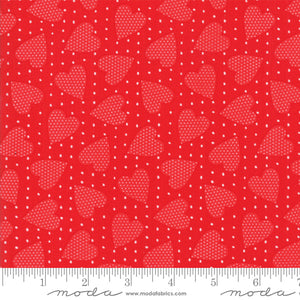 Red on Red Heart Felt Fabric END OF BOLT 3 yds + 8""