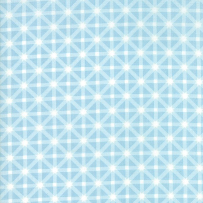 Blue Ice Star Plaid Fabric from Good Tidings Collection at Cherry Creek Fabric